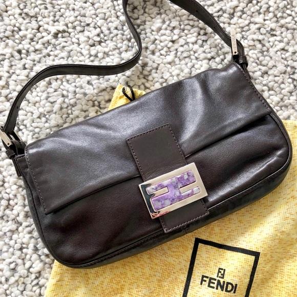 2a52060bd5 Fendi Baguette Leather Bag